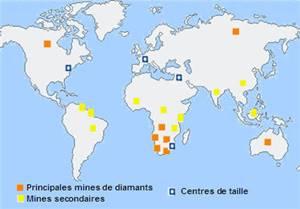 Carte monde avec mines