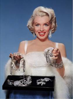 Marilyn avec des diamants